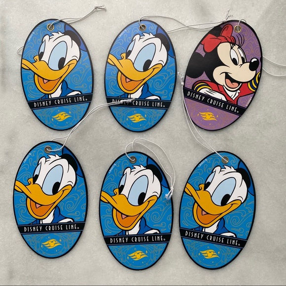Disney Cruise Bag Tags with Donald Duck, Minnie